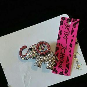 Betsey Johnson Elephant brooch